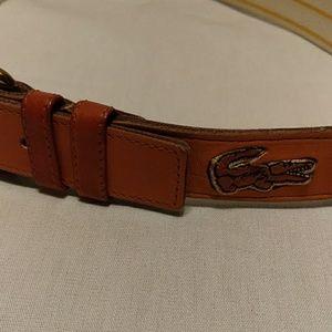 Lacoste Vtg Izod Ladies Stretchy Yellow/white belt